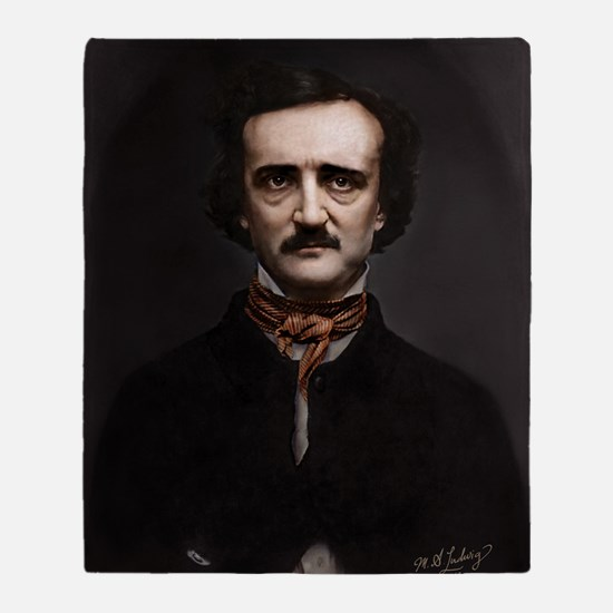 9X12 Edgar Allan Poe Print Throw Blanket
