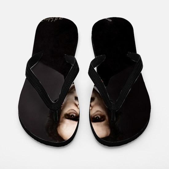 9X12 Edgar Allan Poe Print Flip Flops