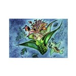 Coral Mermaid Fantasy Rectangle Magnet (100 pack)
