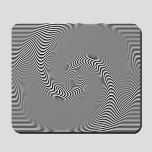 black-white-grey-swirl Mousepad