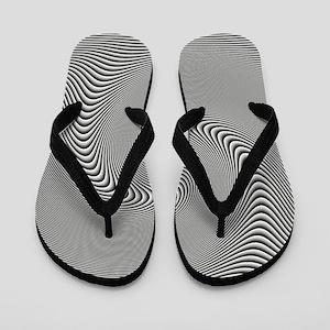 black-white-grey-swirl Flip Flops