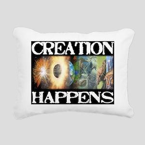 creation happens Rectangular Canvas Pillow
