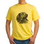 Long-Haired Dachshund Yellow T-Shirt