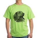 Long-Haired Dachshund Green T-Shirt