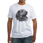 Long-Haired Dachshund Fitted T-Shirt