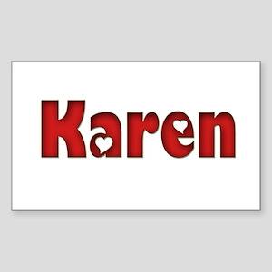Karen Rectangle Sticker
