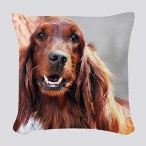 Irish Setter Dog Woven Throw Pillow
