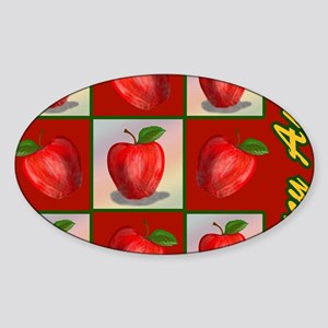 JUICY-APPLE-STADIUM-BLANKET Sticker (Oval)