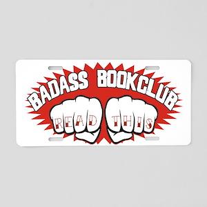 bookclub Aluminum License Plate