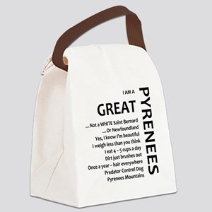 I am a Great Pyrenees Canvas Lunch Bag