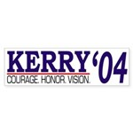 Kerry : Courage, Honor, Vision (sticker)