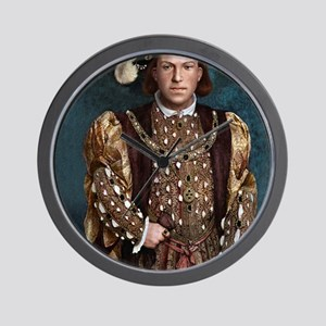 16X20 Young Henry VIII Print Wall Clock