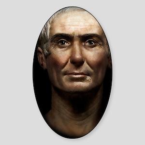 14X10 Julius Caesar Print Sticker (Oval)
