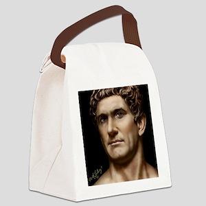 9X12 Mark Antony Print Canvas Lunch Bag