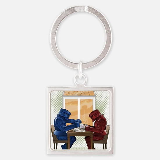 why cant we be friends- lowrez Square Keychain