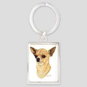 Chihuahua Dark copy Portrait Keychain