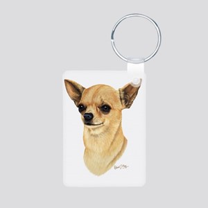 Chihuahua Dark copy Aluminum Photo Keychain