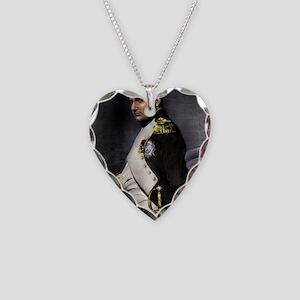 16X20 Napoleon Print Necklace Heart Charm