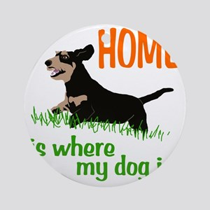 Home_dog_Dachshund Round Ornament