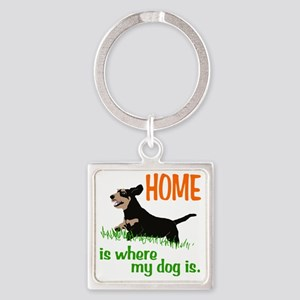 Home_dog_Dachshund Square Keychain