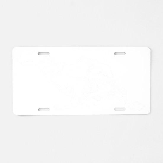 silken windhound running co Aluminum License Plate