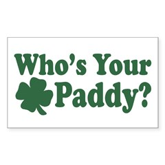Who's Your Paddy Rectangle Decal