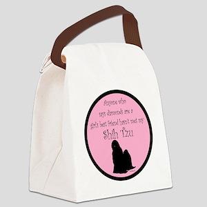 ShihTzuBlackGBF Canvas Lunch Bag