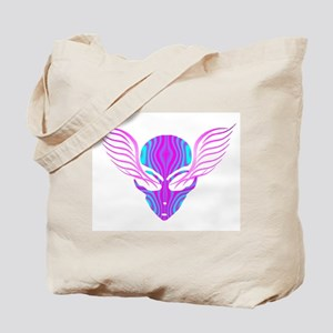 On the Wings of Aliens Psycadelic Tote Bag