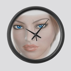 Bright Blue Eyes Large Wall Clock