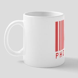 8x10_PHOTOGRAPHER BAR CODE apparel RED Mug