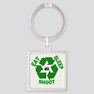 10x10 EAT, SLEEP, SHOOT Wmn Plus S Square Keychain