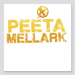 "Peeta Thing -dk Square Car Magnet 3"" x 3"""