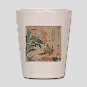 Hokusai Peony and Canary 1 Shot Glass