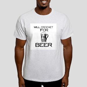 Will Crochet for Beer Light T-Shirt