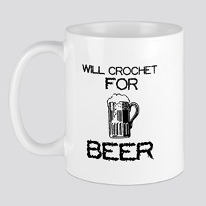 Will Crochet for Beer Mug