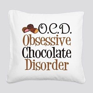 Cute Chocolate Square Canvas Pillow