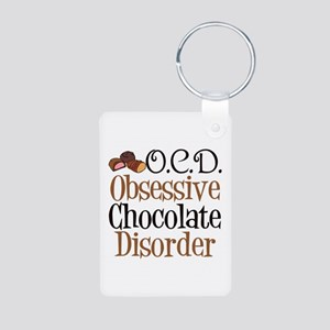Cute Chocolate Aluminum Photo Keychain