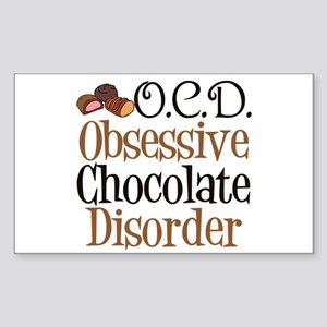 Cute Chocolate Sticker (Rectangle)