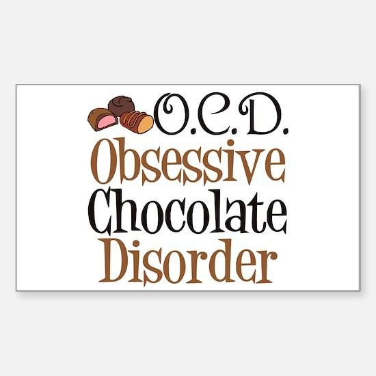Cute Chocolate Sticker (Rectangle)