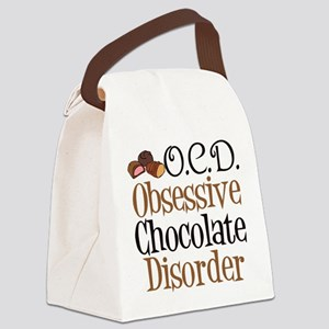 Cute Chocolate Canvas Lunch Bag
