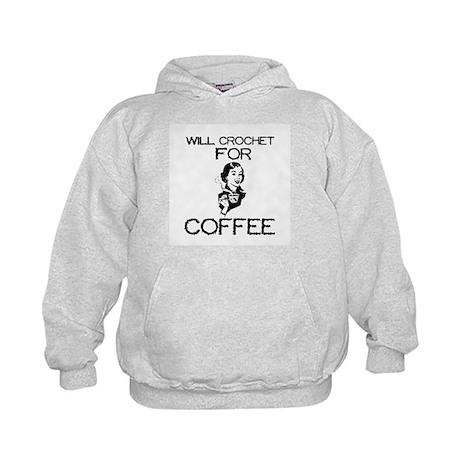 Will Crochet for Coffee Kids Hoodie
