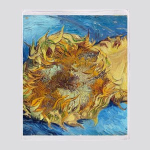 FF VG Sunflower1 Throw Blanket