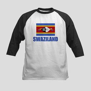 Swaziland Flag Kids Baseball Jersey