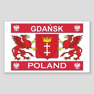Gdansk Rectangle Sticker