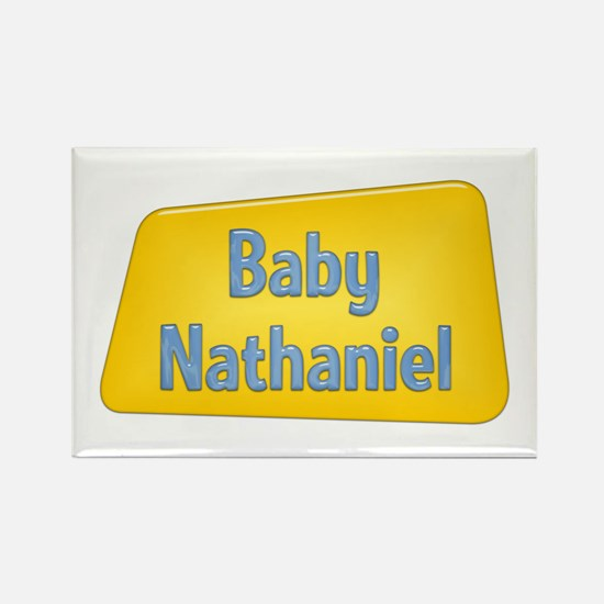 Baby Nathaniel Rectangle Magnet