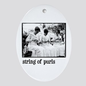 String of Purls Oval Ornament