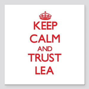 "Keep Calm and TRUST Lea Square Car Magnet 3"" x 3"""