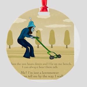 Lawnmower Round Ornament