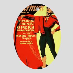 Carmen Opera Poster Oval Ornament