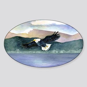LARGEREagle6 Sticker (Oval)